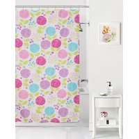 Mainstays Kids In The Garden Coordinating Fabric Shower Curtain