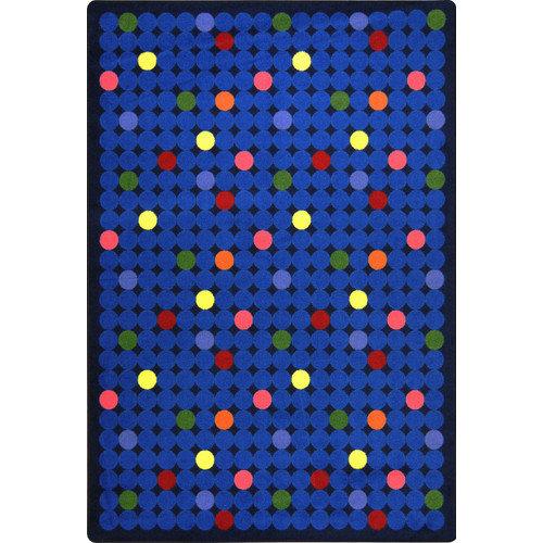 Joy Carpets Playful Patterns Spot On Blue Area Rug
