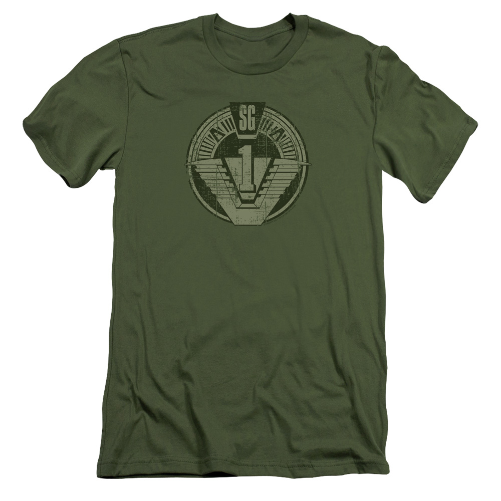 Stargate Sg1 Distressed Mens Slim Fit Shirt