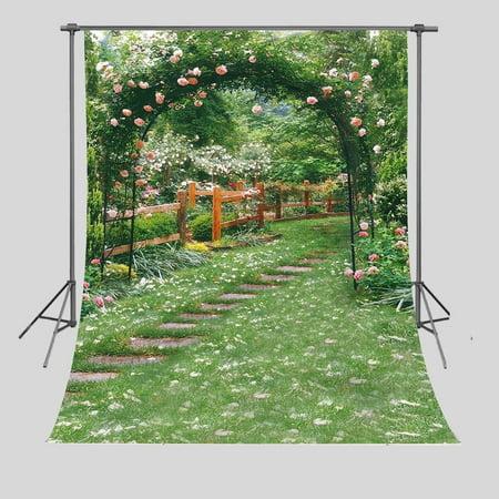 GreenDecor Polyster Background 5x7ft Flower Garden Photography Backdrop Studio Photo Props Room Mural](Room Background)