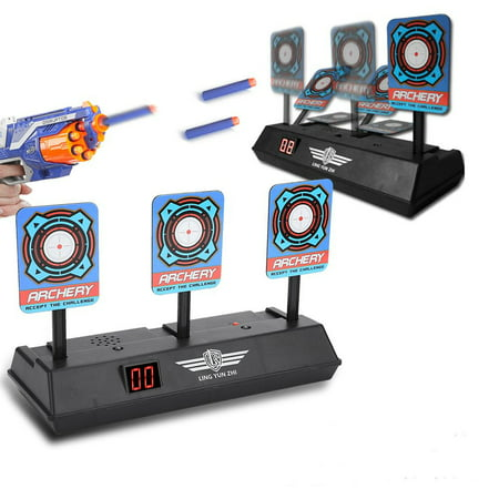 10720353b WALFRONT Electric Target Toy Gun, Electric Score Target Automatic Restore  Accessory for Soft Bullet Gun