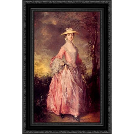UPC 643676814993 product image for Mary, Countess of Howe 18x24 Black Ornate Wood Framed Canvas Art by Gainsborough | upcitemdb.com