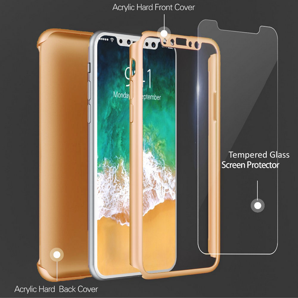Apple iPhone X Case Crystal Clear Protector Shockproof Soft Cover (White) - image 2 de 3