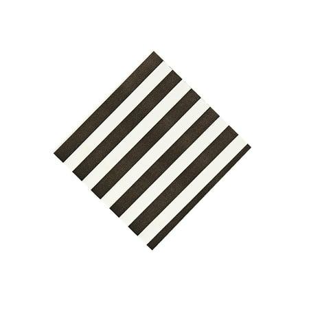 Black Stripe Beverage Napkins - Party Supplies - Print Tableware - Print Napkins - 16 Pieces (Animal Print Tableware)