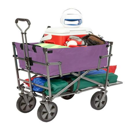 Mac Sports Heavy Duty Steel Double Decker Collapsible Yard Cart Wagon, (Mac Sports Collapsible Folding Outdoor Utility Wagon)