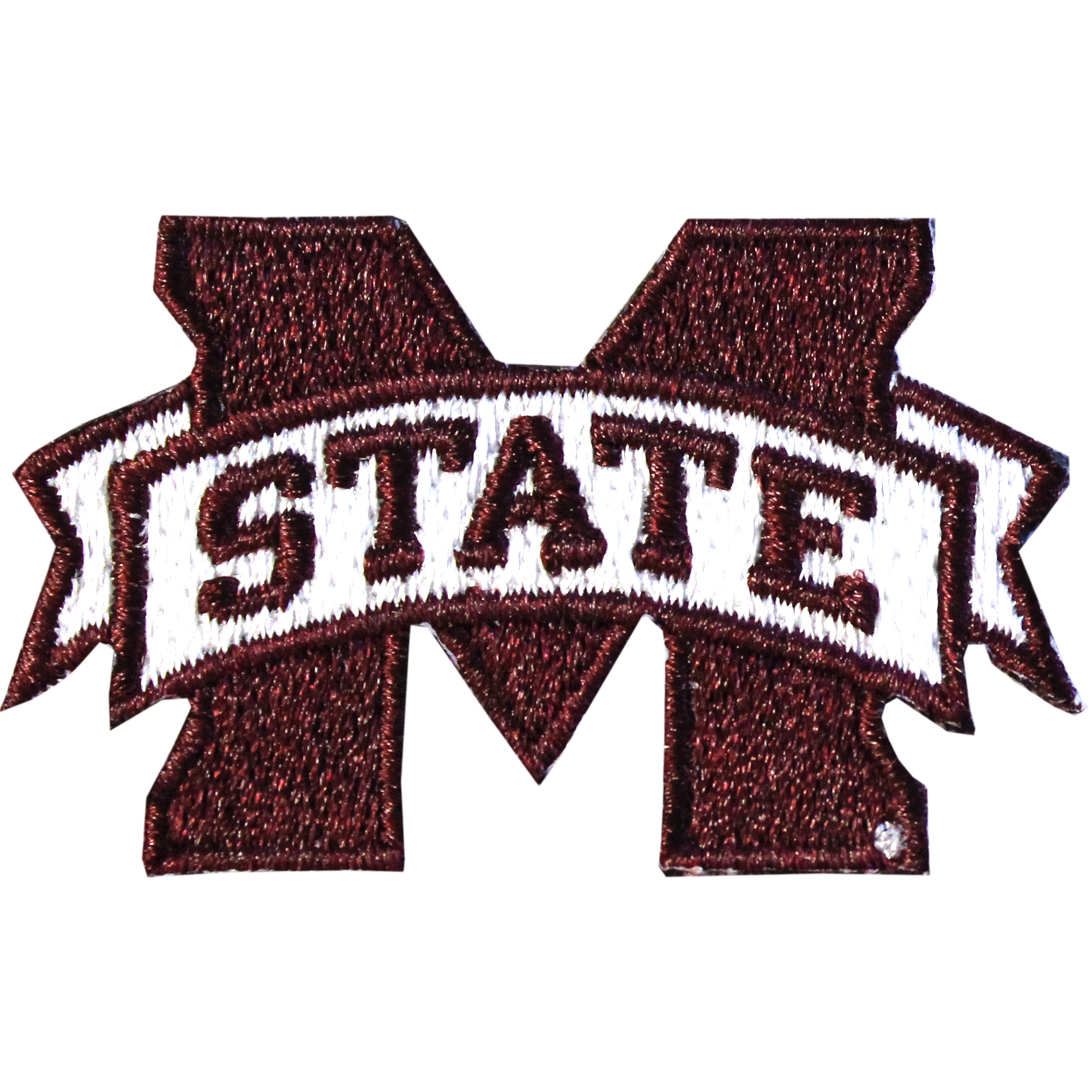 Mississippi State Bulldogs 'M State' Iron On Embroidered Patch Small