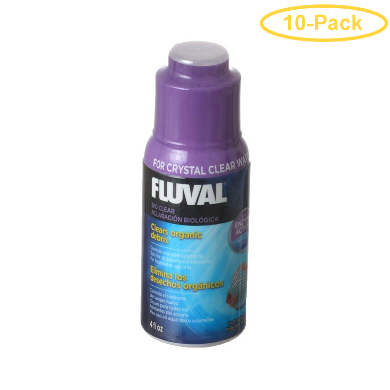 Fluval Bio Clear 4 oz (120 ml) - Treats 240 Gallons - Pack of 10