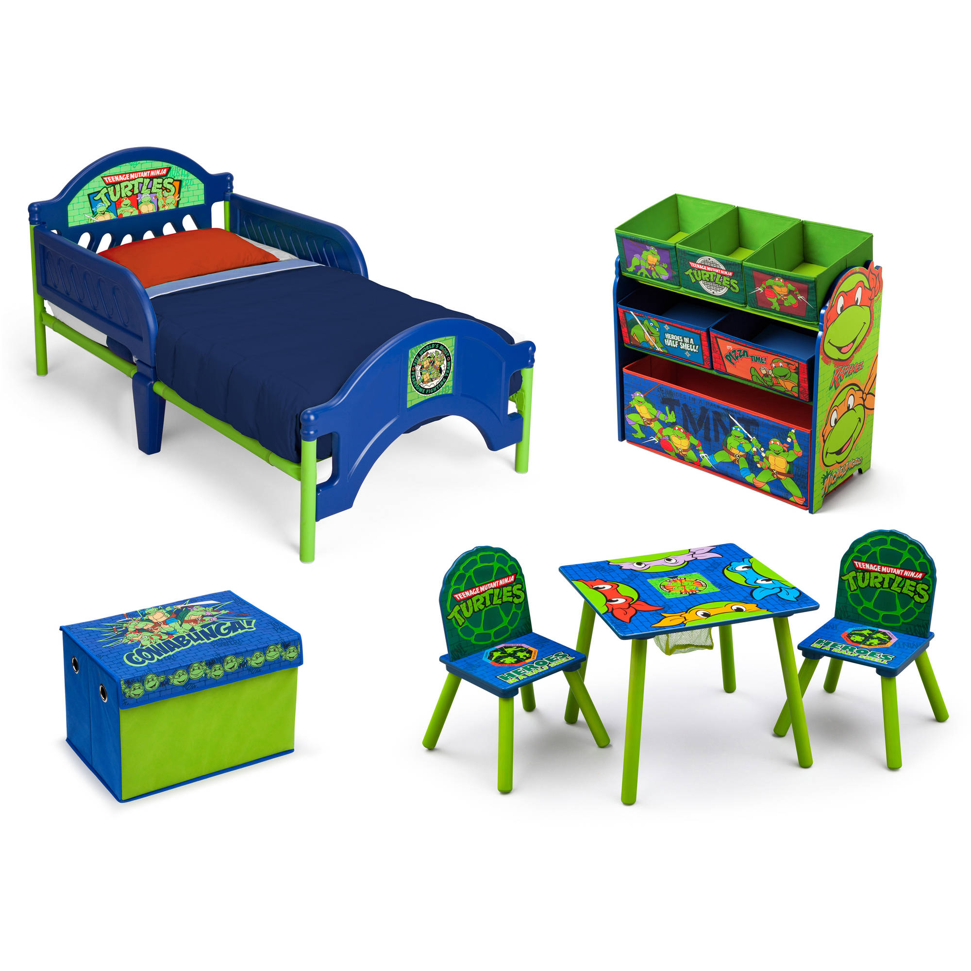 Nickelodeon Ninja Turtles Room in a Box with BONUS Toy Bin
