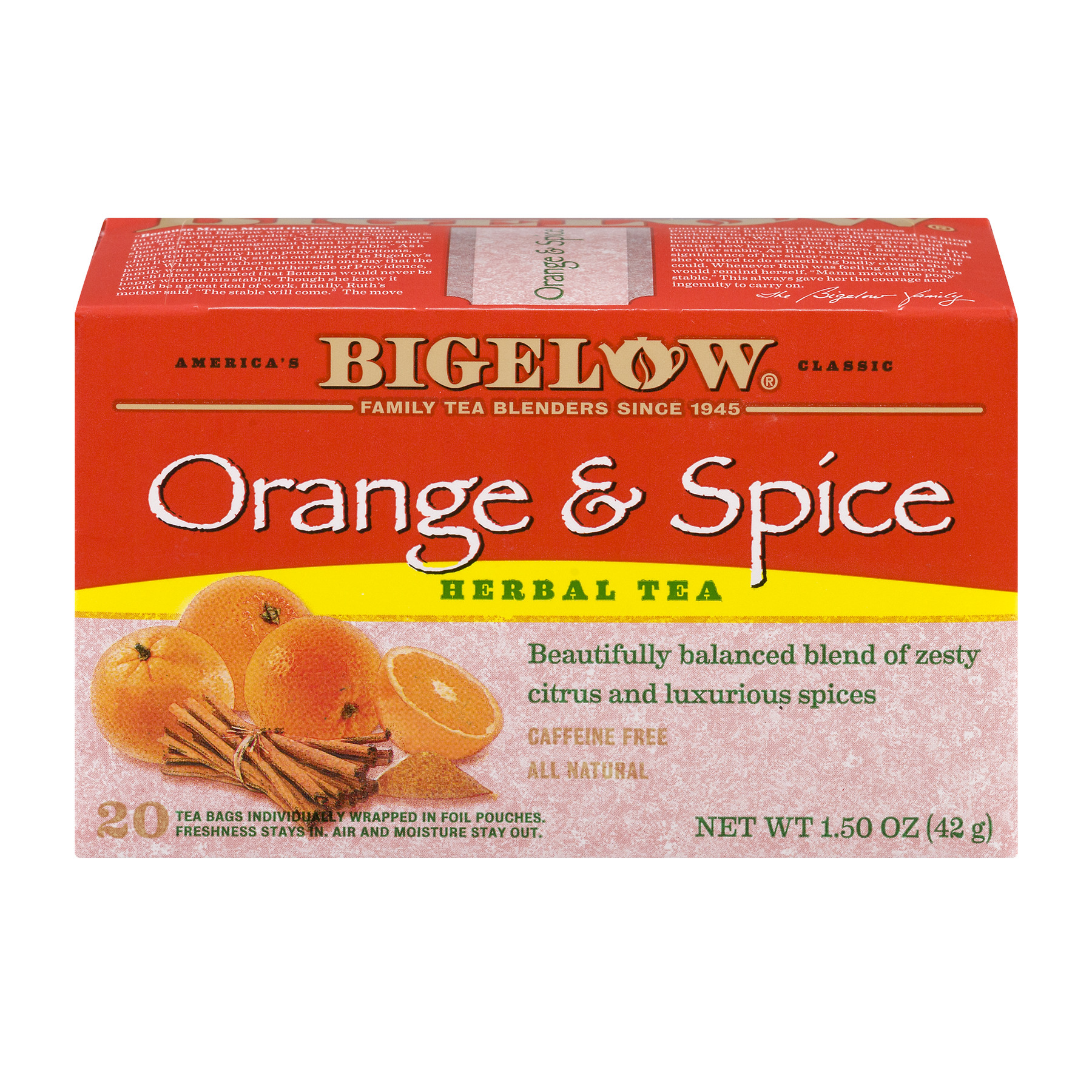 (3 Boxes) ROSE HIPS, SPICES, HIBISCUS, ORANGE PEEL, ROASTED CHICORY, NATURAL ORANGE FLAVORS (SOY LECITHIN).