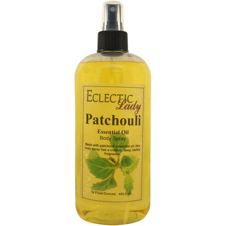 Patchouli Essential Oil Body Spray, 16 ounces ()