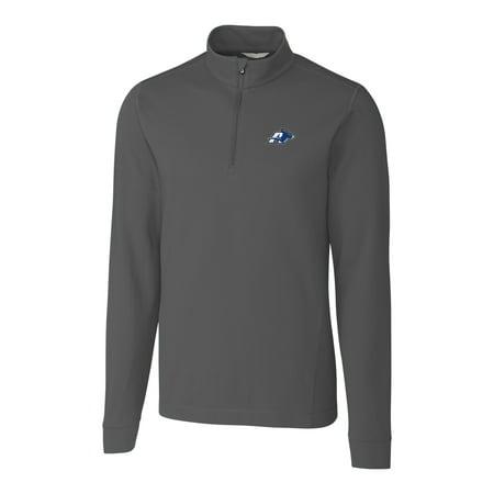 Akron Zips Cutter & Buck Big & Tall Advantage 1/4-Zip Mock Neck Pullover Sweater - Gray 1/4 Zip Mock Neck Pullover
