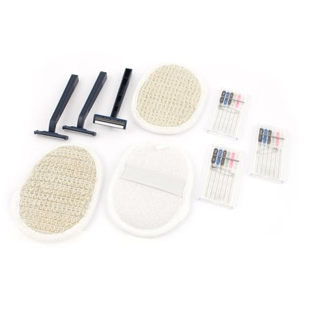 Unique Bargains Portable Sewing Repair Kit Manual Razor Sisal Sponge 9Pcs for Travel