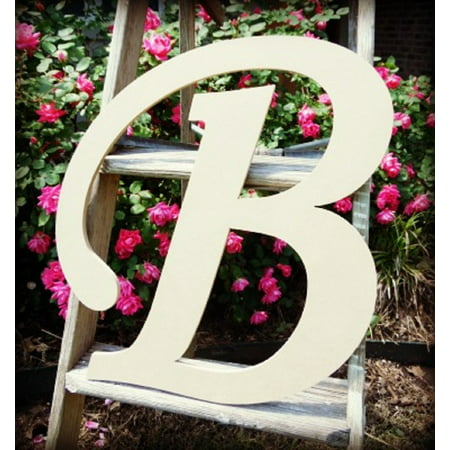 Unfinished DIY Letter Decor, 12'' Monotype B,  Wooden Alphabet Letter