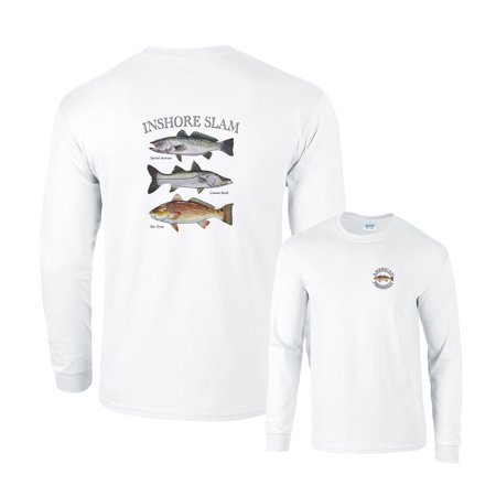 Inshore Slam Spotted Seatrout Common Snook Red Drum Fishing Long Sleeve