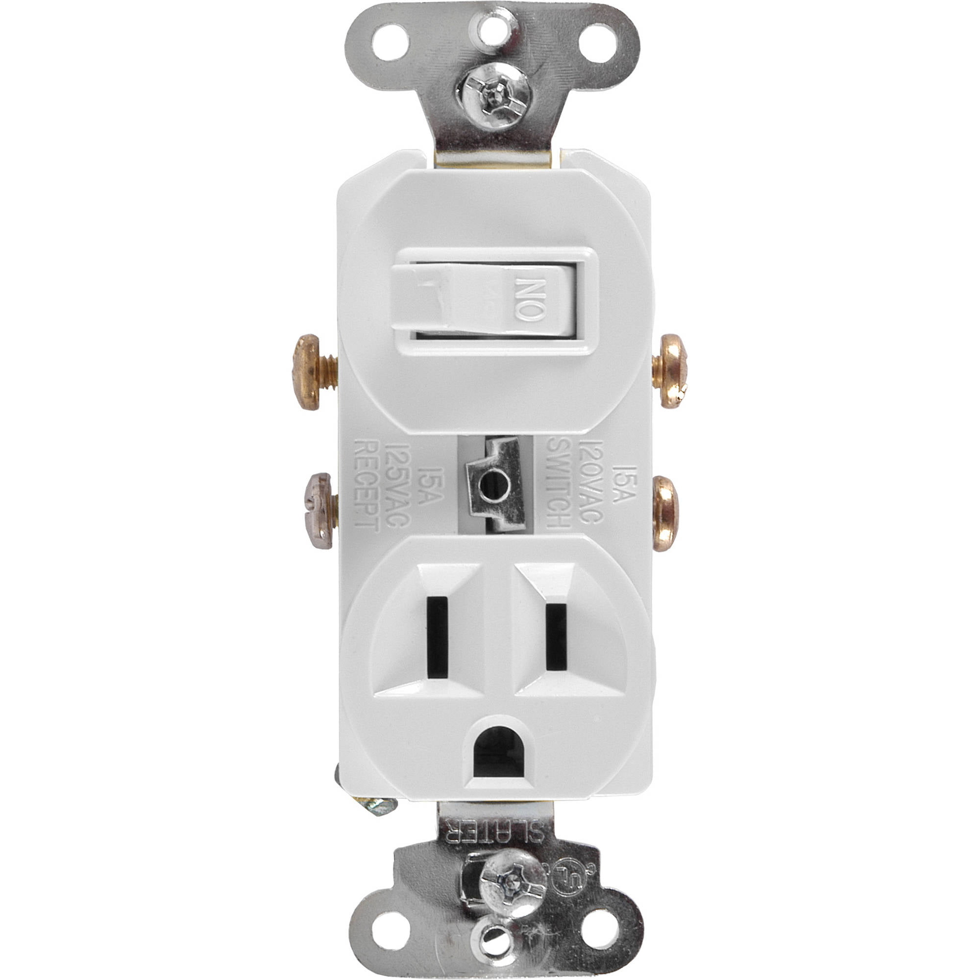 GE Wall Switch and Outlet Combo, White - Walmart.com