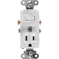 GE Wall Switch and Outlet Combo, White