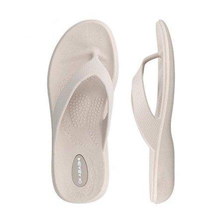 188d6e94aa0e34 OKABASHI - Okabashi Dove Maui Thong Flip Flop Sandals (M L) - Walmart.com
