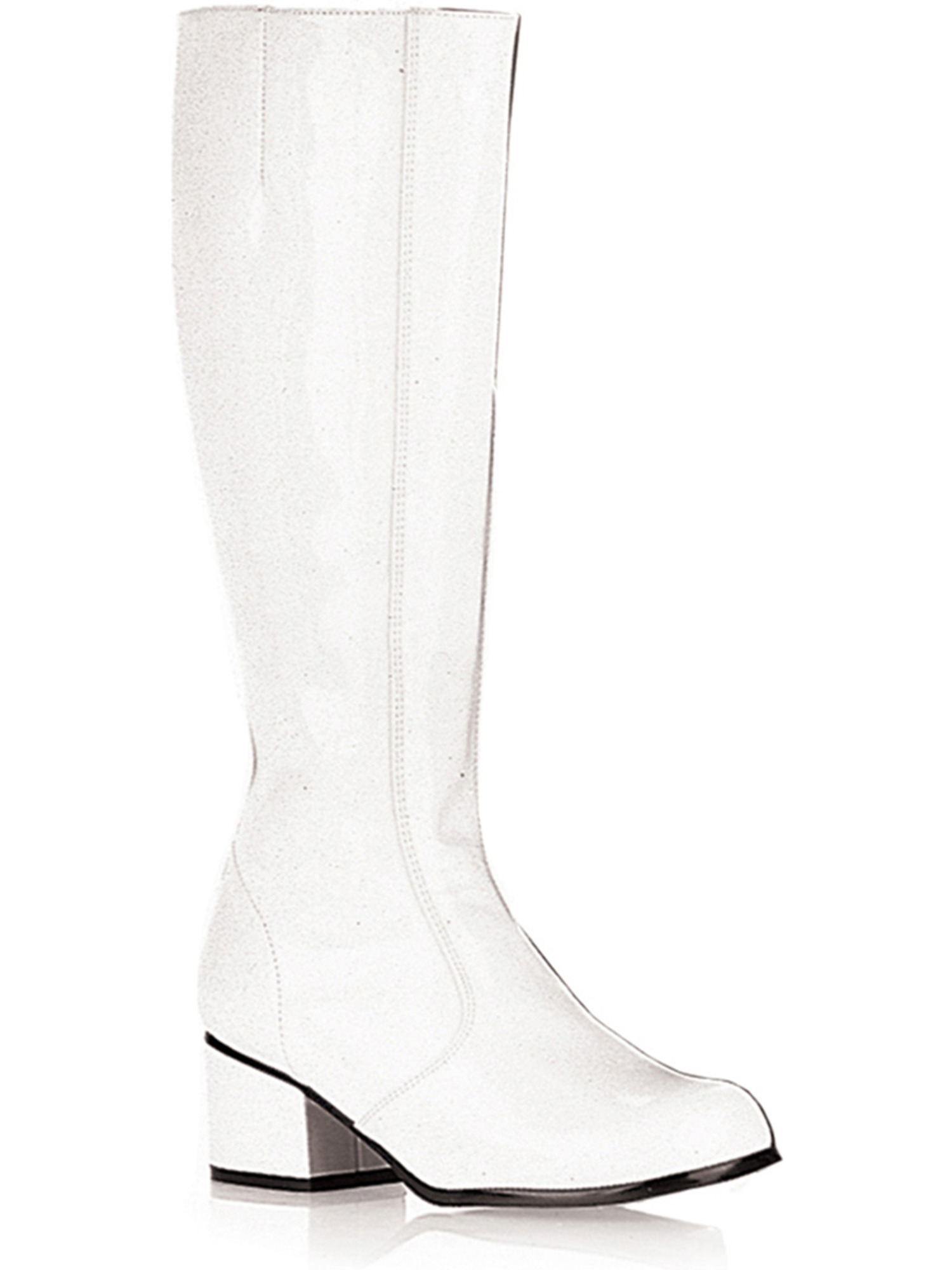 Sexy GOGO Boot Chunky Heel Theatre Costumes Dress Up White