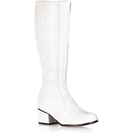 Sexy GOGO Boot Chunky Heel Theatre Costumes Dress Up White - White Gogo Boots Size 6