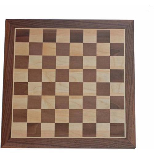 """Deluxe Walnut Chess Board, 18"""""""
