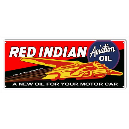 - Red Indian Motor Oil Reproduction Metal Sign 10
