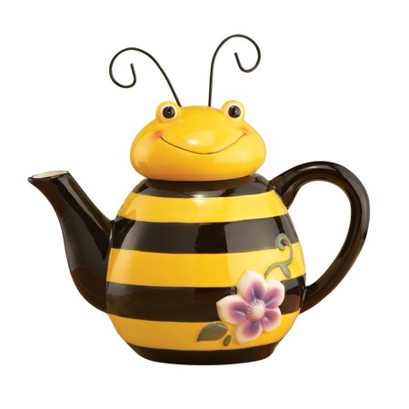 Bee Shaped Ceramic Kitchen Teapot, Yellow