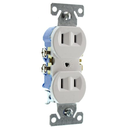 Hubbell RR15NGWZDuplex Recetpacle Outlet, Non-Grounding, 2-Wire, 15-Amp, 120-Volt, White