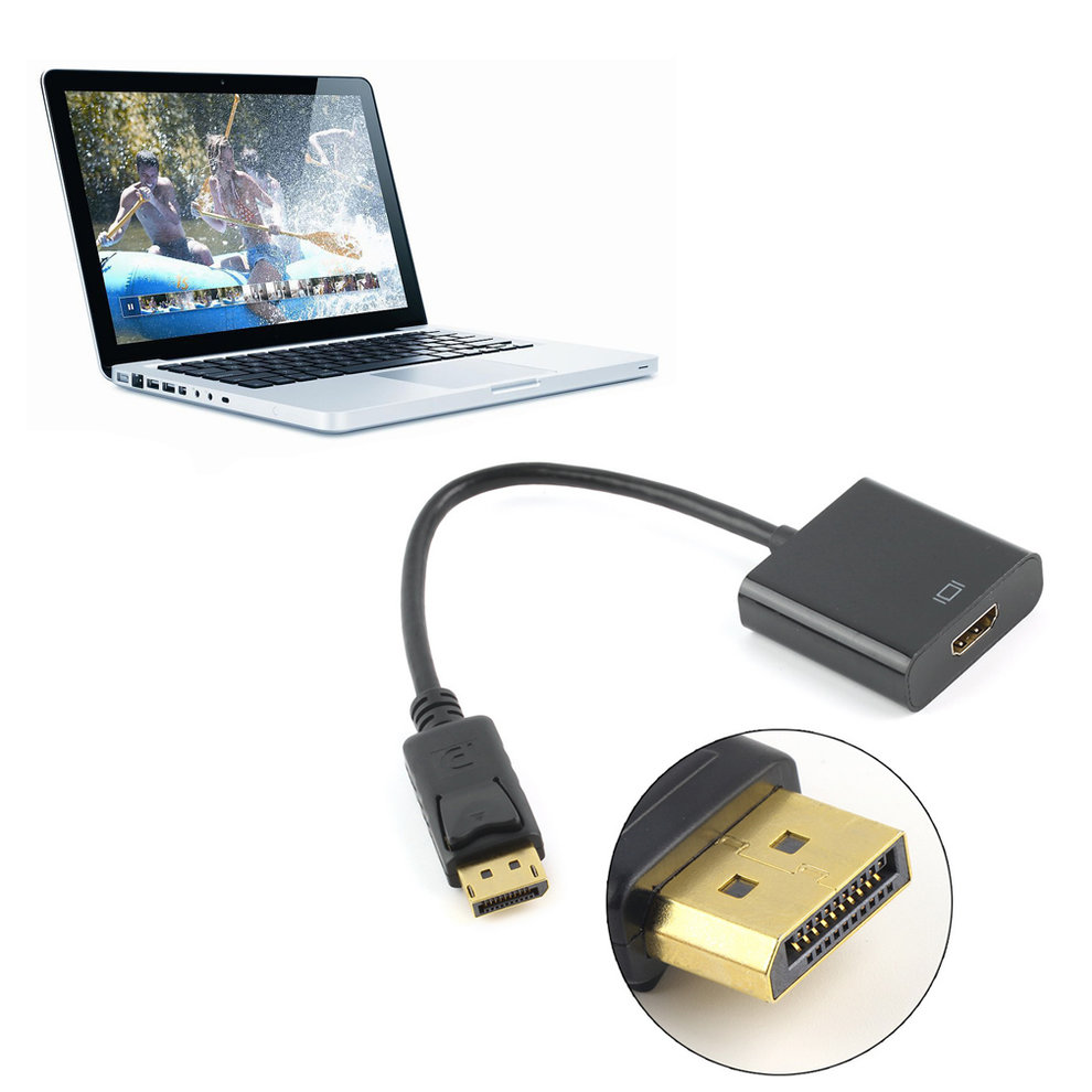DP Displayport Male To HDMI Female Converter Adapter Cable Cord For PC Laptop