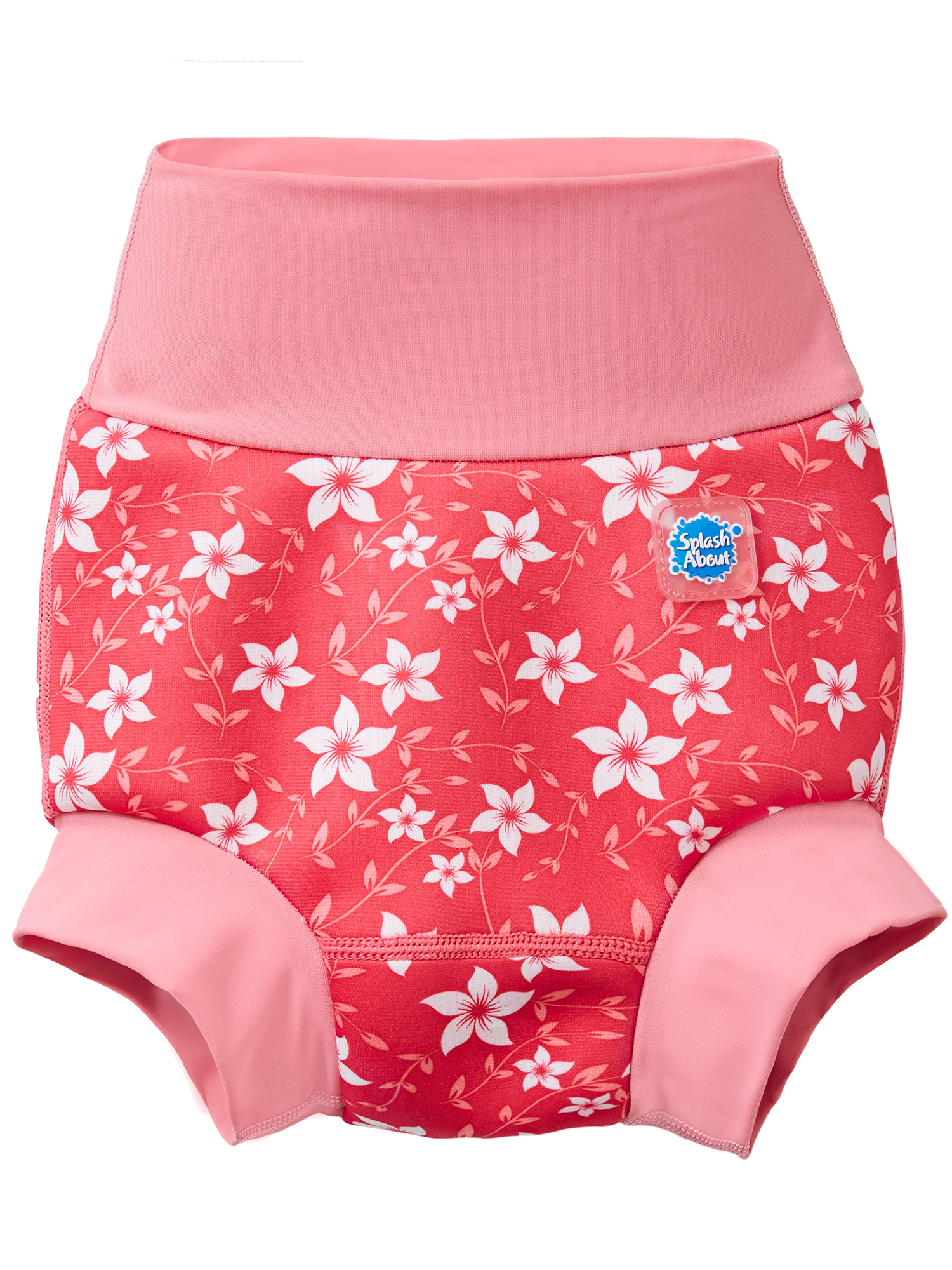 Splash About New Improved Happy Nappy Swim Diaper Pink Blossom X Large 12-24 Months