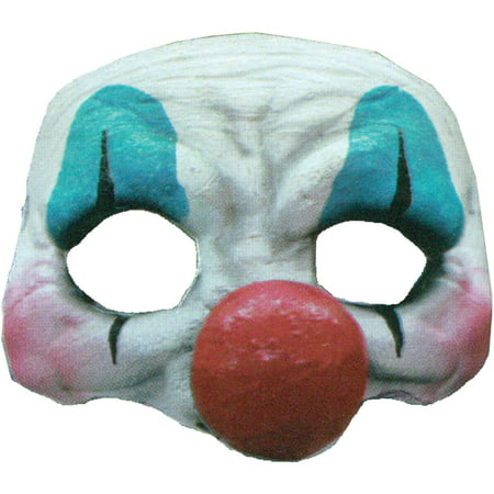 Happy Clown Latex Half Mask Adult Halloween Accessory