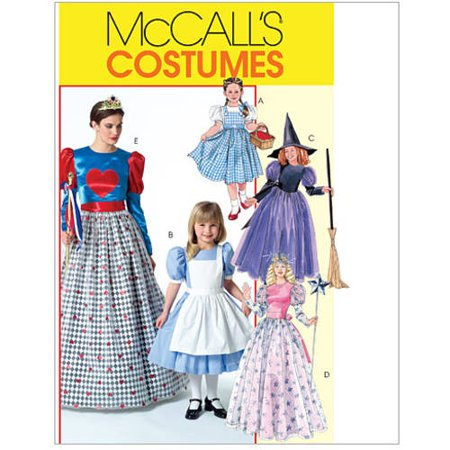 McCall's Misses', Children's and Girls' Costumes, Kids (3, 4, 5, 6, 7, 8) - Children's Halloween Costume Patterns