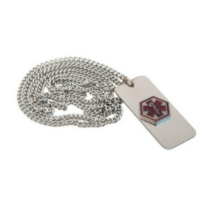 Medical Alert Emergency ID Necklace -