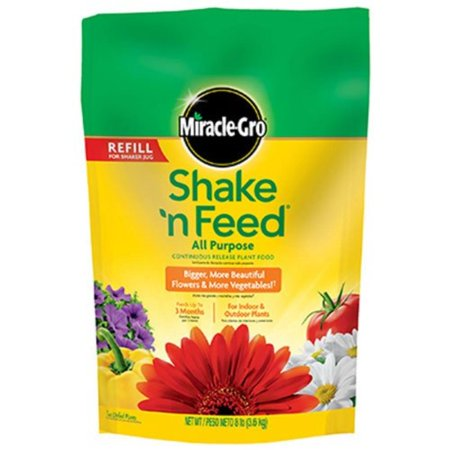 Miracle-Gro Shake 'n Feed Continuous Release All Purpose Plant Food, 8-Pound (Slow Release Plant Fertilizer), For all flowers, vegetables, trees, shrubs and house.., By (The Mangrove Tree Planting Trees To Feed Families)
