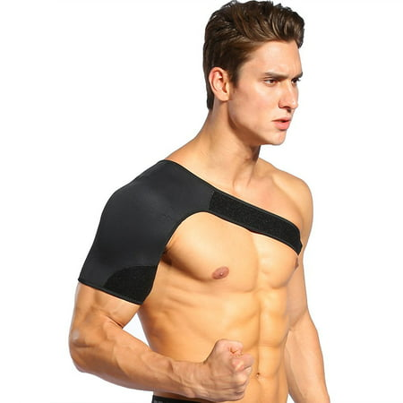 Shoulder Brace for Rotator cuff Adjustable Neoprene Shoulder Support Wrap for Dislocated AC Joint Pain Relieve, Injury Prevention and Recovery, Fits Men and Women(S,Right Shoulder)