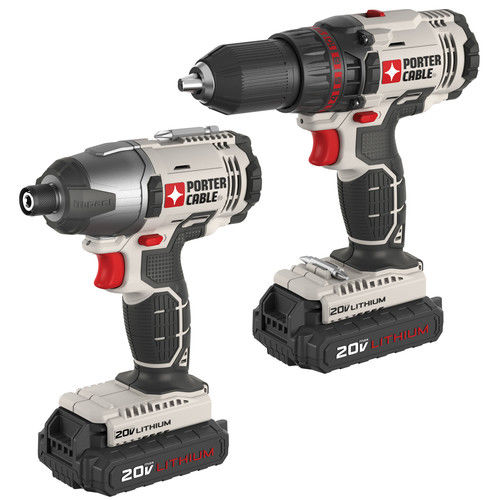 Factory-Reconditioned Porter-Cable PCCK604L2R 20V Max Cordless Lithium-Ion Drill Driver and Impact Drill Kit (Refurbished)