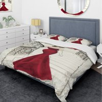 DESIGN ART Designart 'Elegance Glam Paris Diva III' Glam Bedding Set - Duvet Cover & Shams
