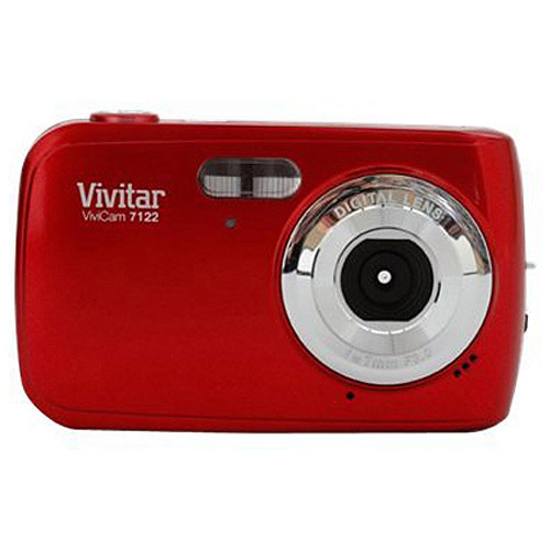 Vivitar Red V7122 Digital Camera with 7.1 Megapixels