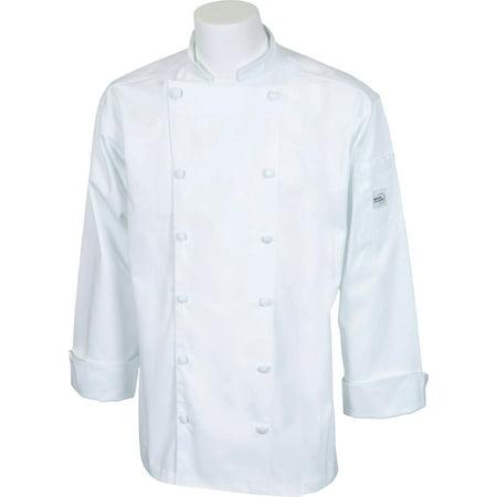 Mercer Renaissance Cutlery Men's Chef Jacket (Trad. Neck) - White, (Men's Renaissance Vest)