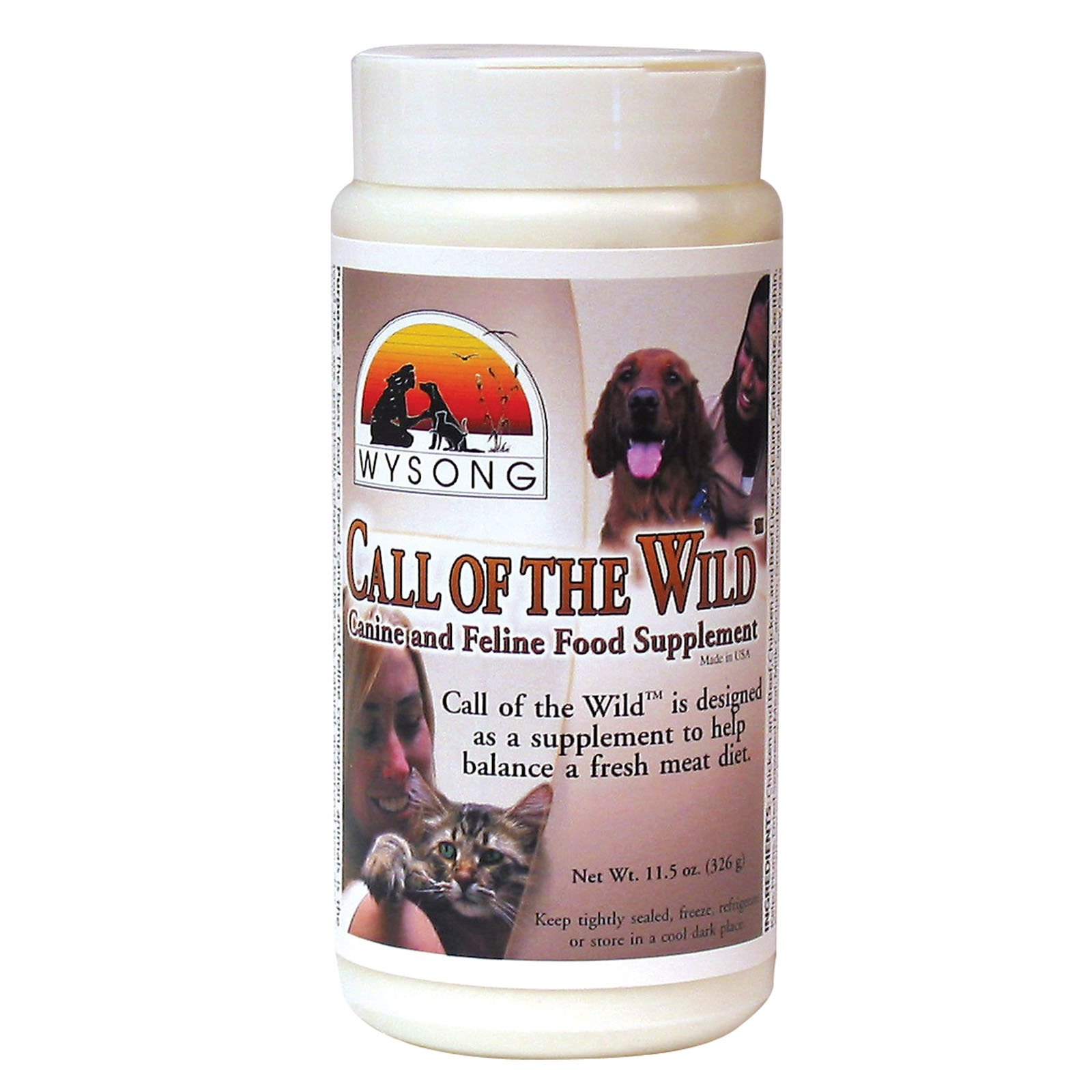 WYSONG PET NUTRITIONAL PRODUCTS 858385 Call of the Wild Canine and Feline Food Supplement for Pets, 11-Ounce