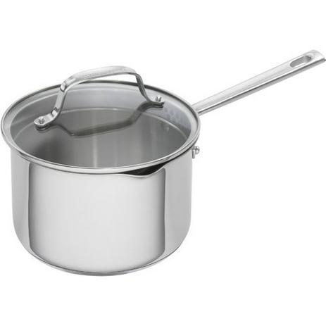 Emeril Lagasse 2 Quart Stainless Steel Sauce Pan With Tempered Glass Lid Walmart Com Walmart Com