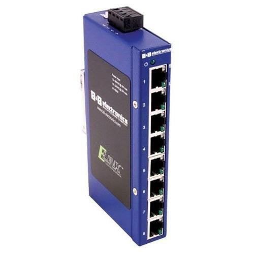 B&B Elinx ESW108 Ethernet Switch - 8 Port - 8 x 10/100Base-TX - Quatech