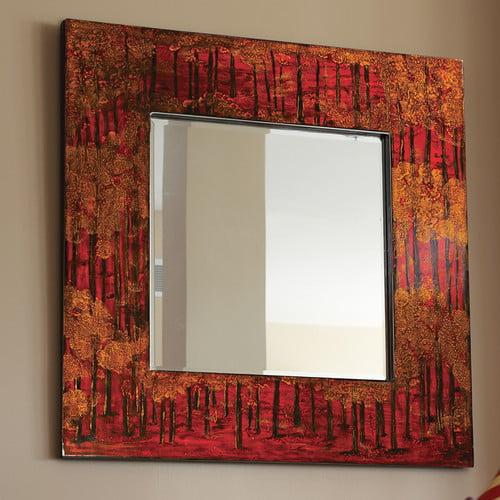 "Howard Elliott 25027 Mia 39"" x 39"" Red Square Mirror by Howard Elliott"