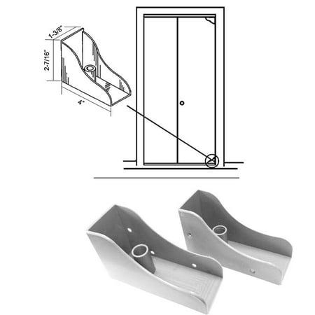Closet Door Savers Bi-Fold Closet Door Pivot Pin Repair Kit - White ()