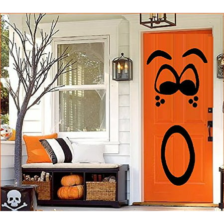 HALLOWEEN DECOR ~ PUMPKIN FACE #2 For Door, or Wall ~ HALLOWEEN: 20
