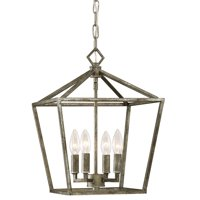 "Millennium Lighting 3234 Antique Silver 4 Light 12"" Wide Taper Candle Pendant"