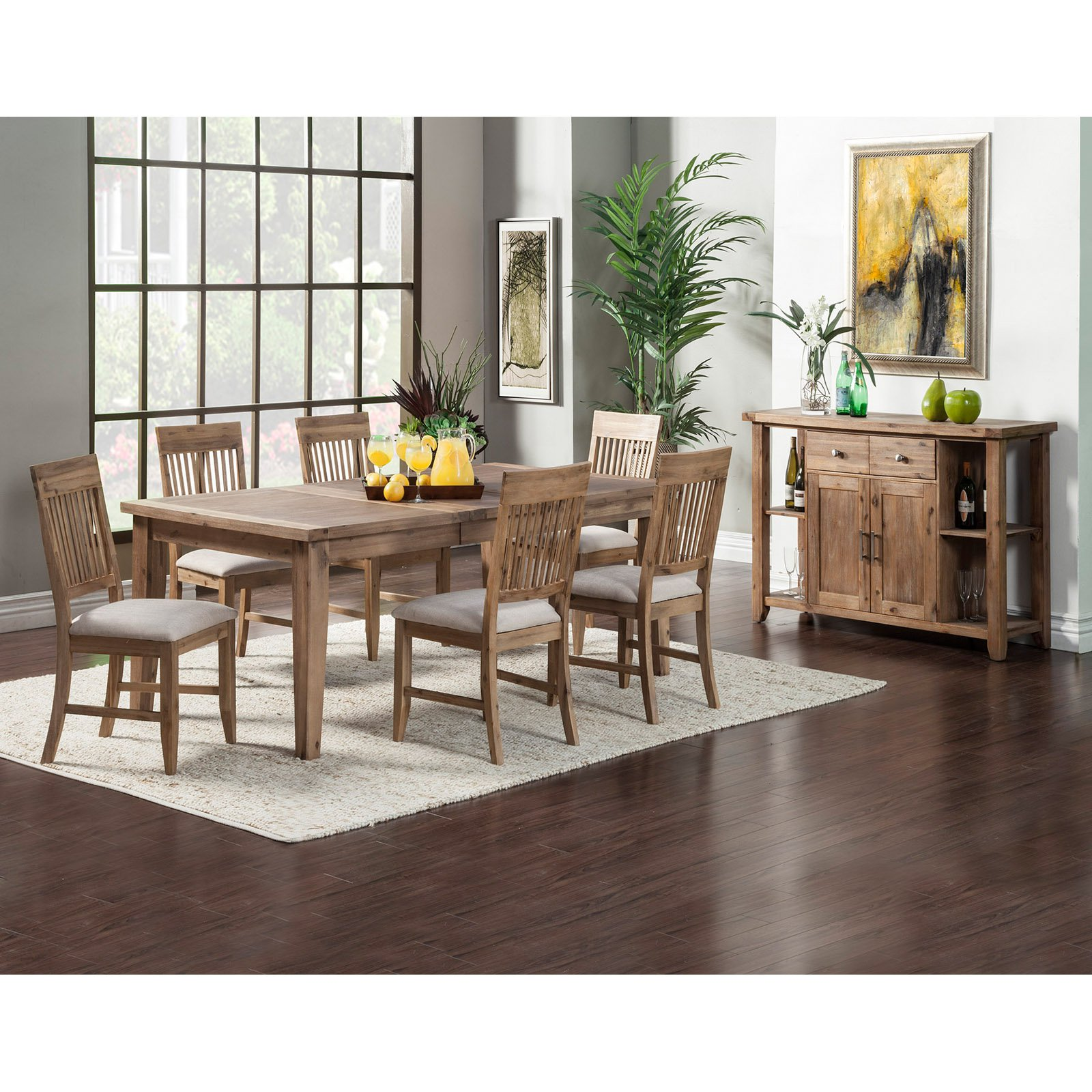Kitchen Server Furniture Alpine Furniture Aspen 7 Piece Dining Set With Optional Server
