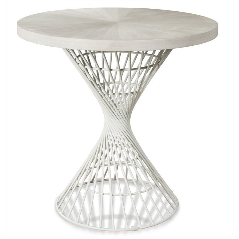 Hillsdale Kanister Round Counter Height Dining Table - White Finish