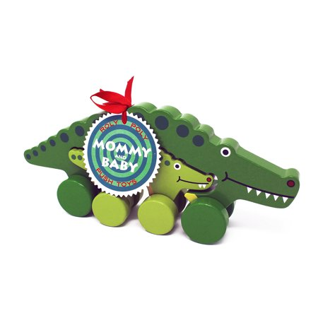 Alligator Pull Toy (Jack Rabbit Creations Alligator Mommy & Baby Push Pull Toy)