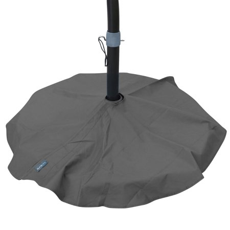 Palm Design Umbrella Base - Duraviva Outdoor Patio Umbrella Base Stand Weatherproof Layover Cover - Waterproof, Easy-to-Use Quick Fastener Design - Fits Bases up to 36 inch in Diameter