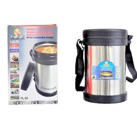Cookinex Vacuum Stainless Steel Food Jug Flask Jar Wide Mouth Thermos 33.8 Fl -